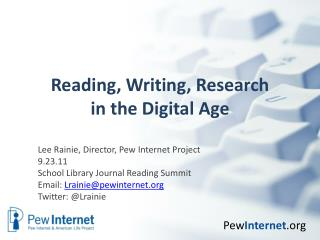 Reading, Writing, Research in the Digital Age