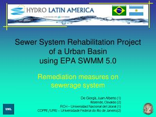 Sewer System Rehabilitation Project of a Urban Basin  using EPA SWMM 5.0