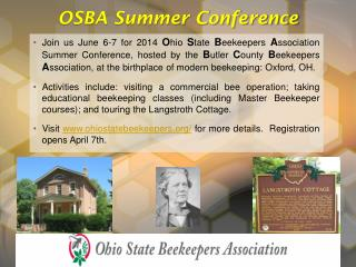 OSBA Summer Conference