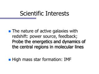 Scientific Interests