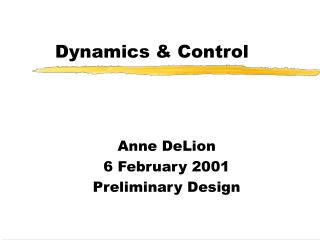 Dynamics & Control