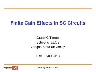 Finite Gain Effects in SC Circuits