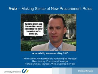 Vwiz –  Making Sense of New Procurement Rules