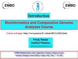 Bioinformatics and Comparative Genome Analyses Course