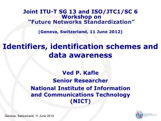 Identifiers, identification schemes and data awareness