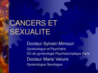 CANCERS ET SEXUALITE