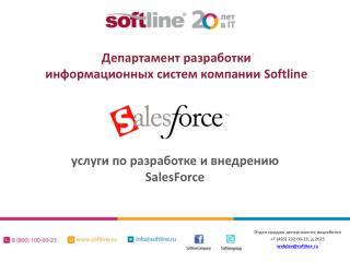 услуги по  разработке и внедрению  SalesForce