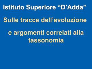 """Istituto Superiore """"D'Adda"""""""
