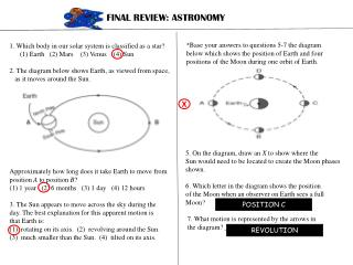 FINAL REVIEW: ASTRONOMY
