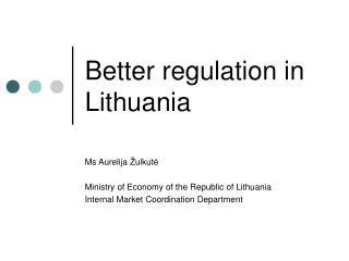 Better regulation in Lithuania