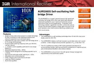 AUIR2085S Self-oscillating Half-bridge Driver