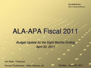 ALA-APA Fiscal 2011