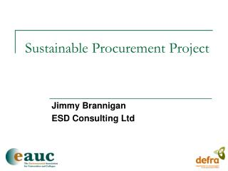 Sustainable Procurement Project