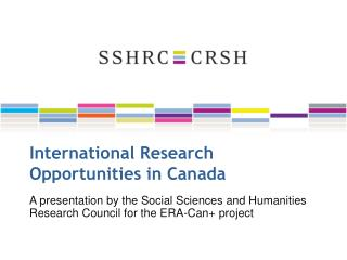 International Research Opportunities in Canada