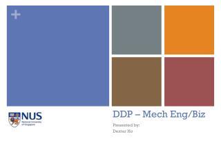 DDP –  Mech  Eng/Biz