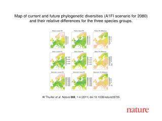 W Thuiller  et al. Nature 000 , 1-4 (2011) doi:10.1038/nature09705