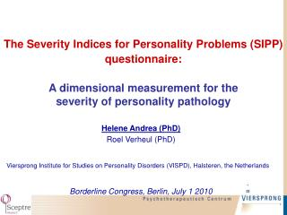 Helene Andrea (PhD) Roel Verheul (PhD)