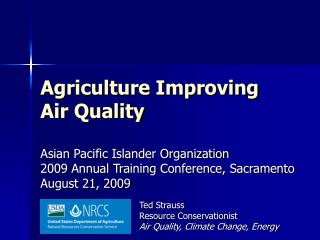 Ted Strauss Resource Conservationist Air Quality, Climate Change, Energy