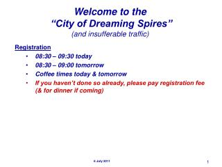"""Welcome to the  """"City of Dreaming Spires"""" (and insufferable traffic)"""