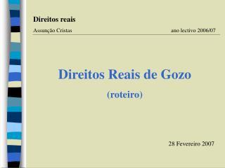 Direitos Reais de Gozo (roteiro)