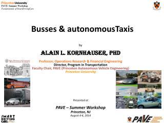 Busses & autonomousTaxis