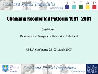 Changing Residentail Patterns 1991 - 2001