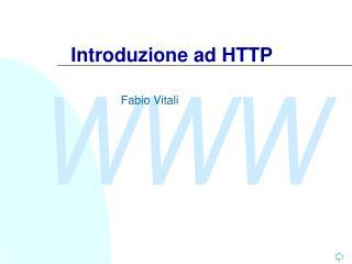 Introduzione ad HTTP