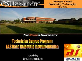 Okmulgee Campus Engineering Technologies Division