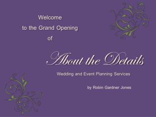 About the Details Wedding and Event Planning Services