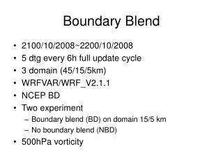 Boundary Blend