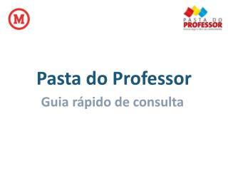 Pasta do Professor