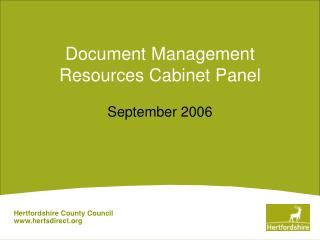 Document Management Resources Cabinet Panel