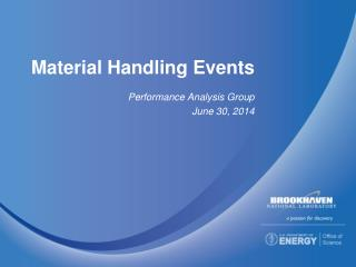Material Handling Events