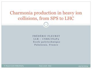 Charmonia production in heavy ion collisions, from SPS to LHC