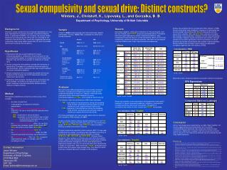 Sexual compulsivity and sexual drive: Distinct constructs?