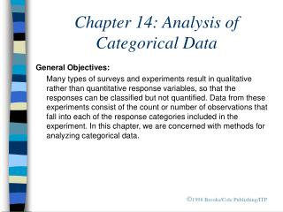 Chapter 14: Analysis of Categorical Data