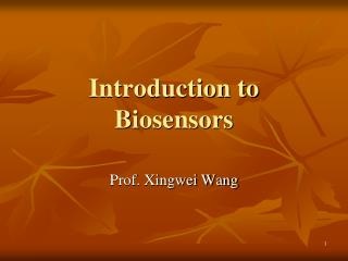 Introduction to Biosensors