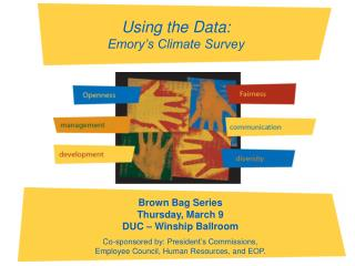 Using the Data:  Emory's Climate Survey