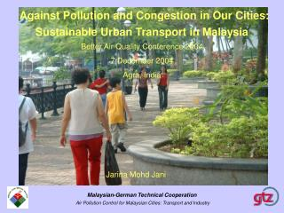 Against Pollution and Congestion in Our Cities: