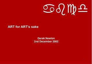 ART for ART's sake