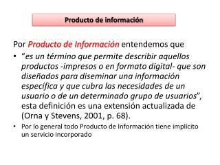 Producto de información