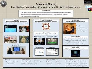 Science of Sharing Investigating Cooperation , Competition, and  Social  Interdependence