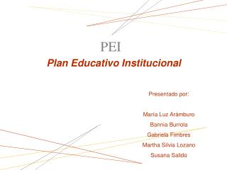 Plan Educativo Institucional