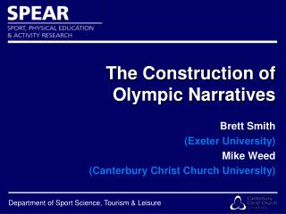 The Construction of Olympic Narratives
