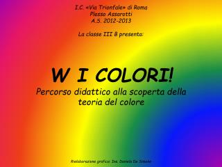 I.C. «Via Trionfale» di Roma Plesso  Assarotti A.S. 2012-2013 La classe III B presenta: