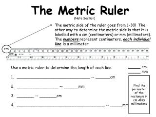 The  M etric Ruler