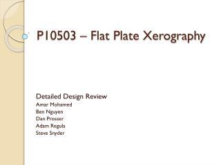 P10503 – Flat Plate Xerography