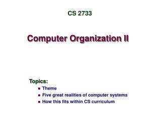 Computer Organization II