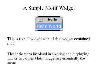 A Simple Motif Widget
