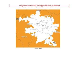 L'organisation spatiale de l'agglomération parisienne